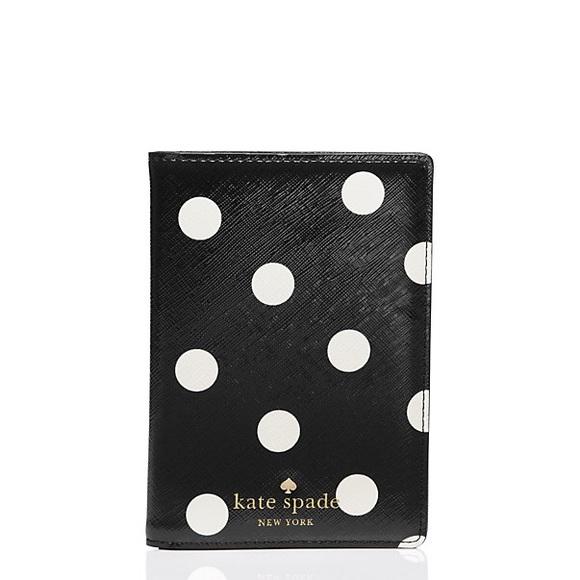 f133152c926e kate spade Accessories | Polka Dot Passport Holder Nwt | Poshmark